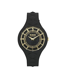 Women's Fire Island Studs Black Silicone Strap Watch 39mm