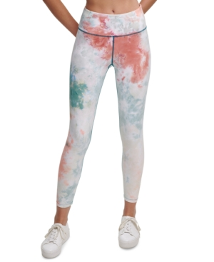 Calvin Klein Performance Prism Printed High-waist Leggings In White