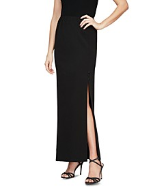 Alex Eveings Petite Side-Slit Column Maxi Skirt