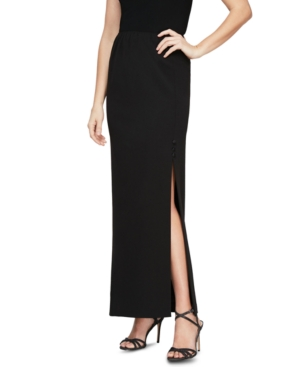 Alex Evenings Pull-on Maxi Skirt In Black