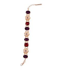Women's Fashionable Florals Link Bracelet