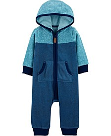 Baby Boy  Zip-Up Fleece Jumpsuit