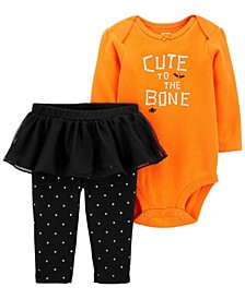 Baby Girl  2-Piece Halloween Bodysuit & Tutu Pant Set