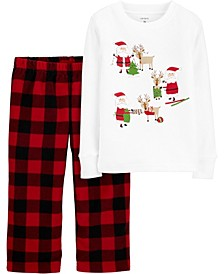Baby Boy or Girl 2-Pc. Fleece Santa Christmas Pajamas Set