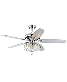 "Catrine 52"" 3-Light Indoor Remote Controlled Ceiling Fan with Light Kit"