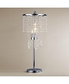 "Crystal 13"" 3-Light Indoor Desk Lamp with Light Kit"