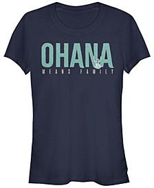 Women's Disney Lilo Stitch Ohana Bold Short Sleeve T-shirt
