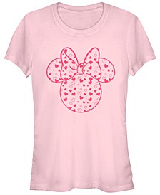 Women's Disney Mickey Classic Minnie Hearts Fill Short Sleeve T-shirt