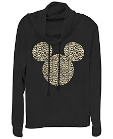 Women's Disney Mickey Classic Animal Ears Fleece Cowl Neck Sweatshirt