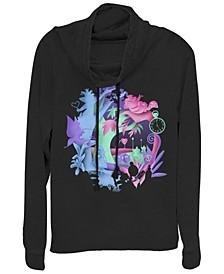 Women's Alice in Wonderland Chaos Wonderland Fleece Cowl Neck Sweatshirt
