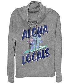 Women's Disney Lilo Stitch Aloha Locals Stitch Fleece Cowl Neck Sweatshirt