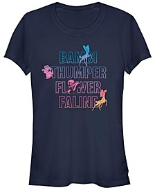 Women's Bambi Names Stacked Short Sleeve T-shirt