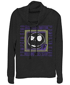 Women's Nightmare Before Christmas Jack Skate Fleece Cowl Neck Sweatshirt