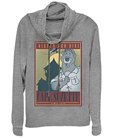 Women's TaleSpin Cape Suzette Poster Fleece Cowl Neck Sweatshirt