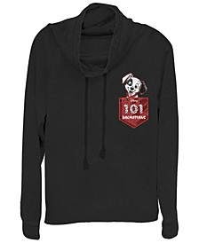 Women's 101 Dalmatians Pocket Puppy Fleece Cowl Neck Sweatshirt