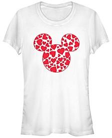 Women's Disney Classic Mickey Hearts Fill Short Sleeve T-shirt