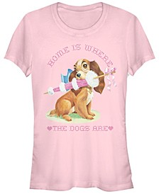 Women's Lady and the Tramp Home Dog Short Sleeve T-shirt