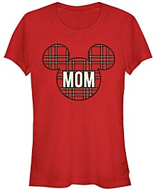 Women's Disney Mickey Classic Mom Holiday Patch Short Sleeve T-shirt