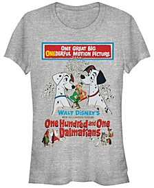 Women's 101 Dalmatians Vintage-Like Poster Short Sleeve T-shirt