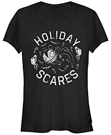 Women's Nightmare Before Christmas Holiday Scares Doll Short Sleeve T-shirt
