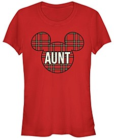 Women's Disney Mickey Classic Aunt Holiday Patch Short Sleeve T-shirt