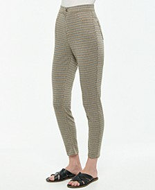 Juniors' Pull-On Plaid High Rise Jeggings