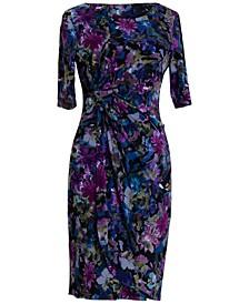 Plus Size Sarong Printed Dress
