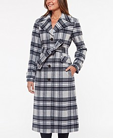 Plaid Belted Coat