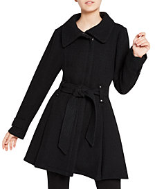 Madden Girl Juniors' Asymmetrical Belted Wrap Coat, Created for Macy's