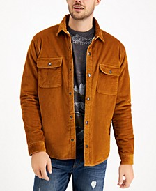 Men's Badgely Cord Regular-Fit Fleece-Lined Corduroy Shirt Jacket, Created for Macy's