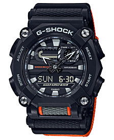 G-Shock Men's Analog-Digital Black Resin Strap Watch 49.5mm