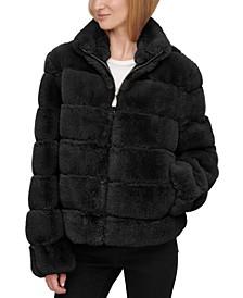 Faux-Fur Zip-Front Coat