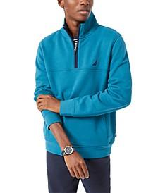 Men's Solid Quarter Zip Fleece Pullover