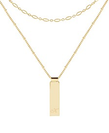 14K Gold Plated Maisie Initial Layering Necklace Set