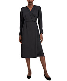 Alfani Faux-Wrap Dress, Created for Macy's