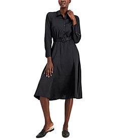 Alfani Fit & Flare Belted Midi Dress, Created for Macy's