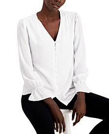 V-Neck Poet Blouse, Created for Macy's