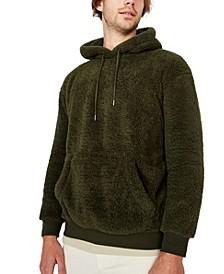 Men's Drop Shoulder Teddy Fleece Hoodie