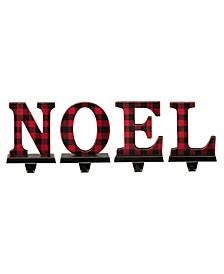Noel Christmas Stocking Holder, Set of 4