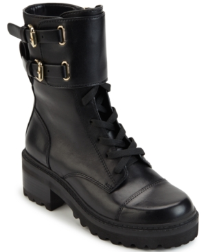 Dkny WOMEN'S BART LACE-UP BUCKLED BOOTIES