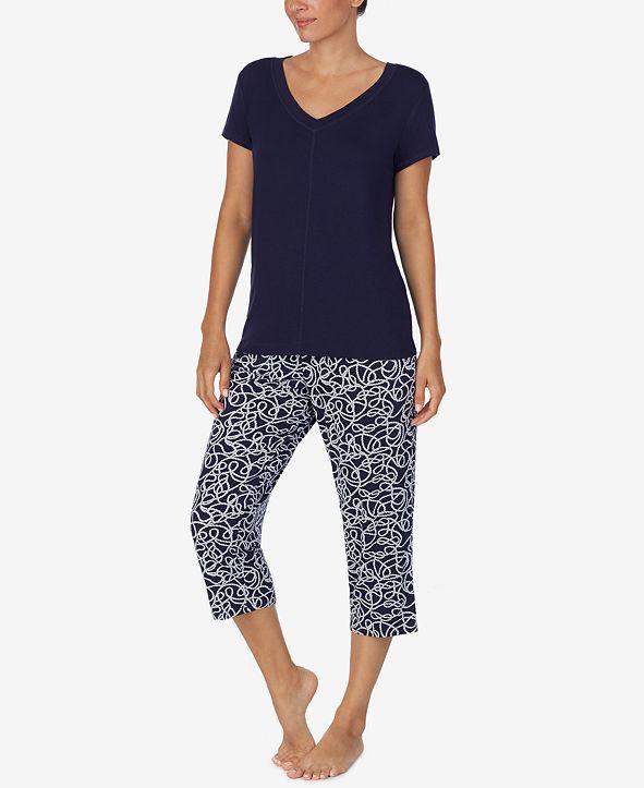 Nautica Women's 2-Pc. T-Shirt & Capris Pajama Set