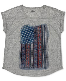 Petite Faded Flag V-Neck T-Shirt, Created for Macy's
