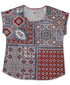 Petite Paisley-Print T-Shirt, Created for Macy's