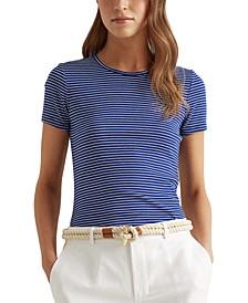 Striped Cotton-Blend T-Shirt