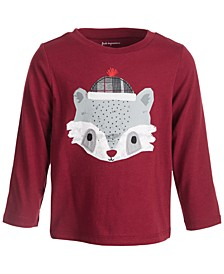 Toddler Boys Racoon Face Tee, Created for Macy's