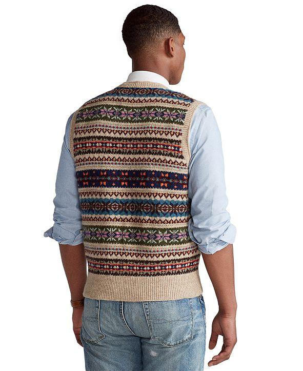 Polo Ralph Lauren Men's Fair Isle Sweater Vest & Reviews ...