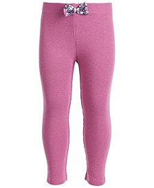 Toddler Girls Ribbed Bow Legging, Created for Macy's