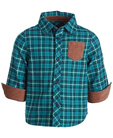 Baby Boys Country Plaid Button Up, Created for Macy's