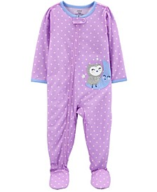 Baby Girl 1-Piece Loose Fit Footie PJs