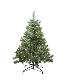 Pre-Lit Mixed Cashmere Pine Medium Artificial Christmas Tree-Clear Lights